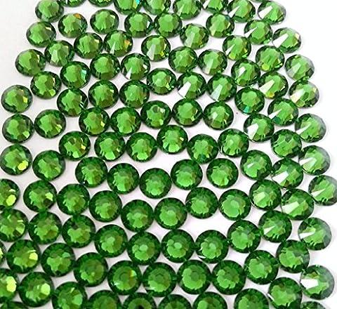 FERN GREEN Crystal Rhinestones Flatback 36 SWAROVSKI 6.4mm 30ss ss30 - 30ss Swarovski Rhinestones