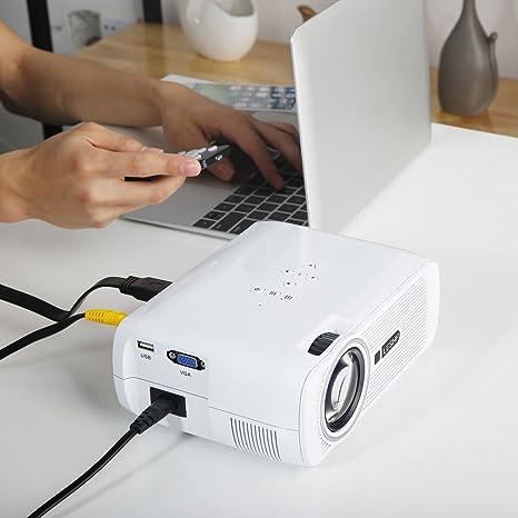 Mini Proyector leshp BL80 lámpara LED de 1200 lúmenes Contraste ...