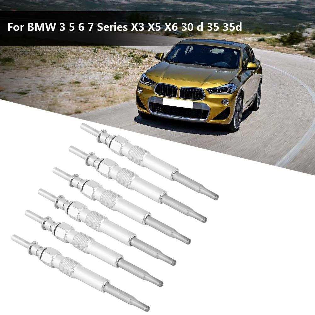kimiss Bujía de metal Diesel calentadores 3 5 6 7 X3 X5 X6 30 D 35 35d: Amazon.es: Coche y moto