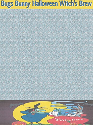 Halloween Bugs Bunny Witch's Brew Stationery Printer Paper 26 Sheets -