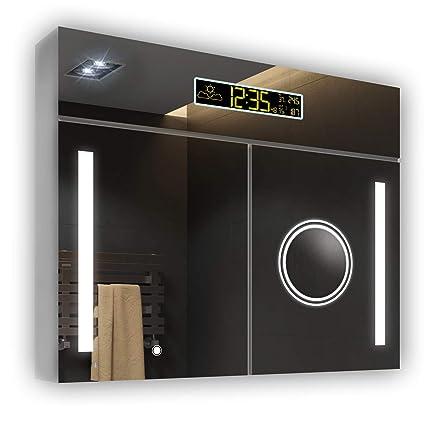 Tremendous Amazon Com Artforma Mirrors Mirror Cabinet With Led Home Interior And Landscaping Mentranervesignezvosmurscom