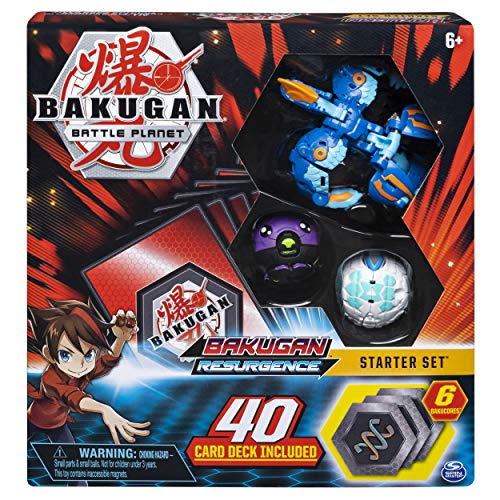 Bakugan, Battle Brawlers Starter Set with Transforming Creatures, Aquos Pyravian, for Ages 6 & Up