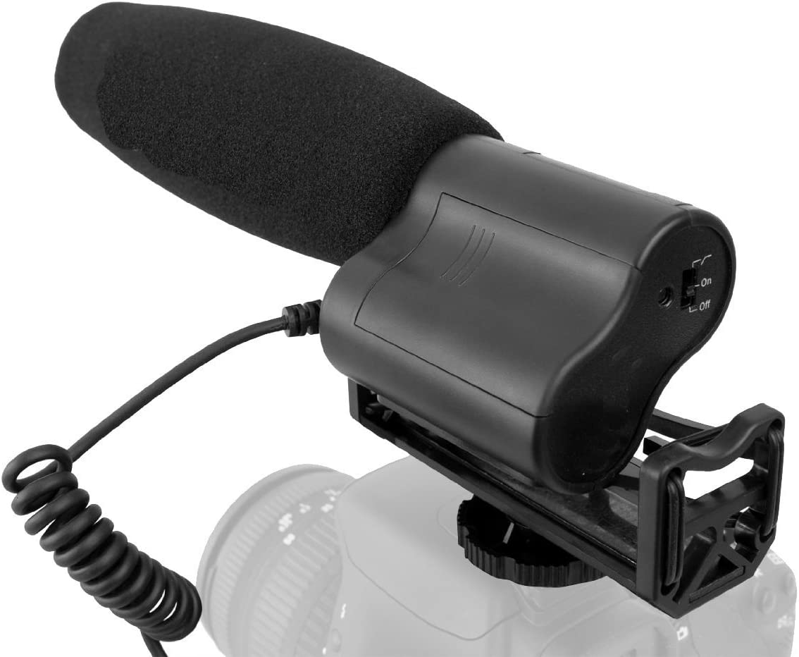 with Windscreen /& Dead Cat Wind Muff for Sony FDR-AX100 Includes Multi-Interface Adapter Stereo//Shotgun High Sensitivity Microphone
