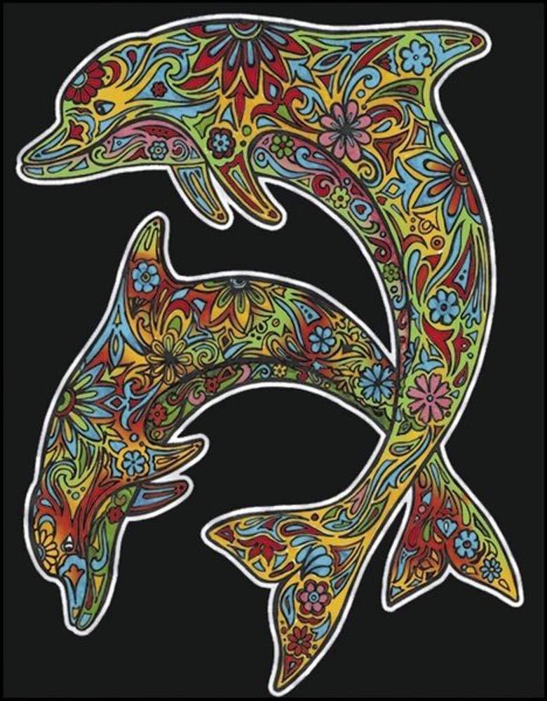 Delfini Disegno 47 x 35 cm Colorvelvet L102