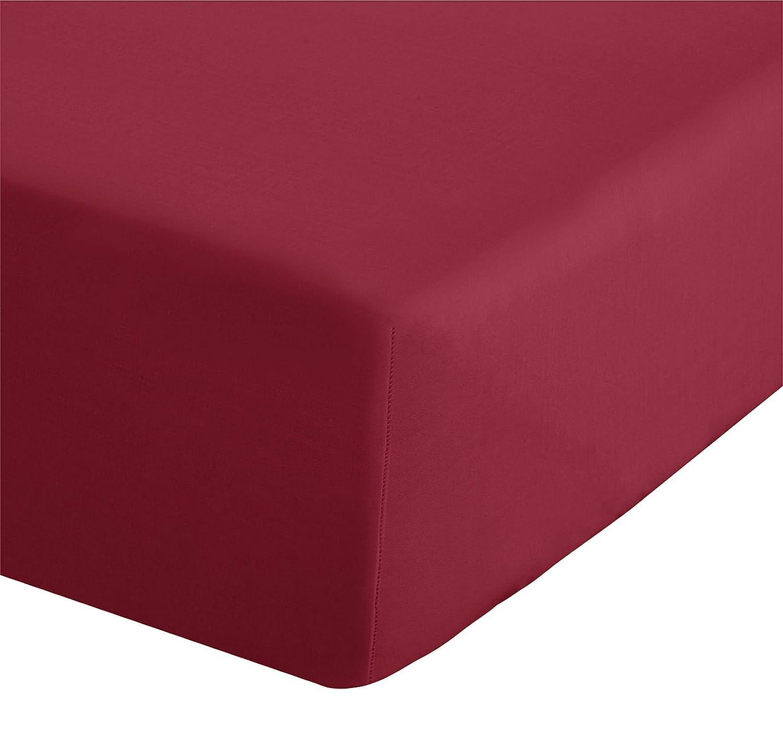 Catherine Lansfield Hometexstyle - Sá bana bajera ajustable, color rojo BDB1 8277 WSFD5-RED