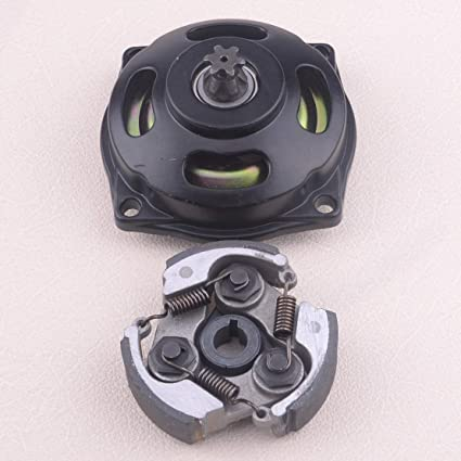 Calap-Store - Motorcycle 6T Metal Engine Clutch Drum Pad Bell Housing Gear Box Kit Fit For 47cc 49cc Pocket Dirt Bike ATV Mini Quad - - Amazon.com