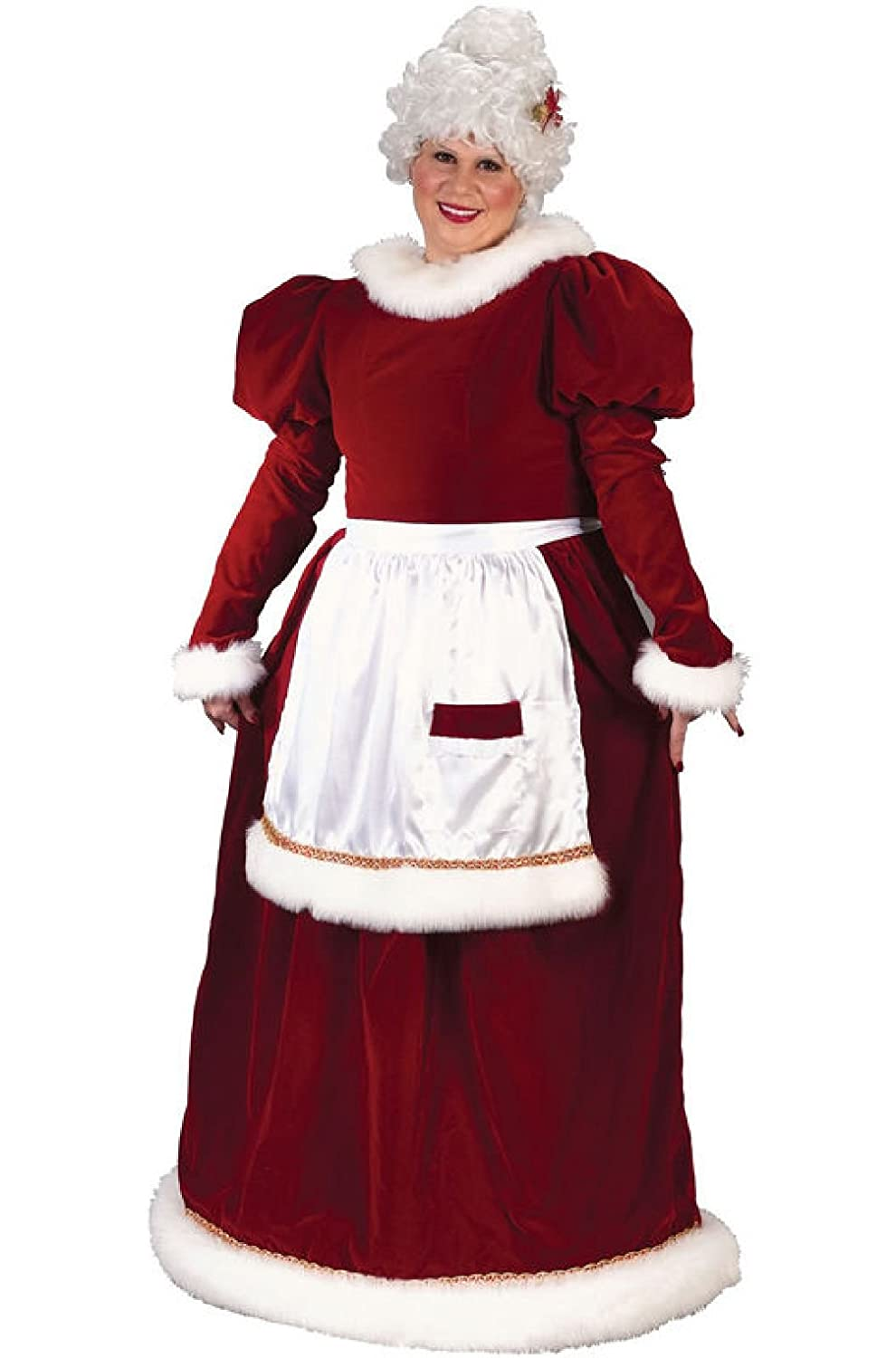 Mrs. Santa Claus Women's Christmas Holiday Long Velvet Gown (XLarge Not Plus Size)