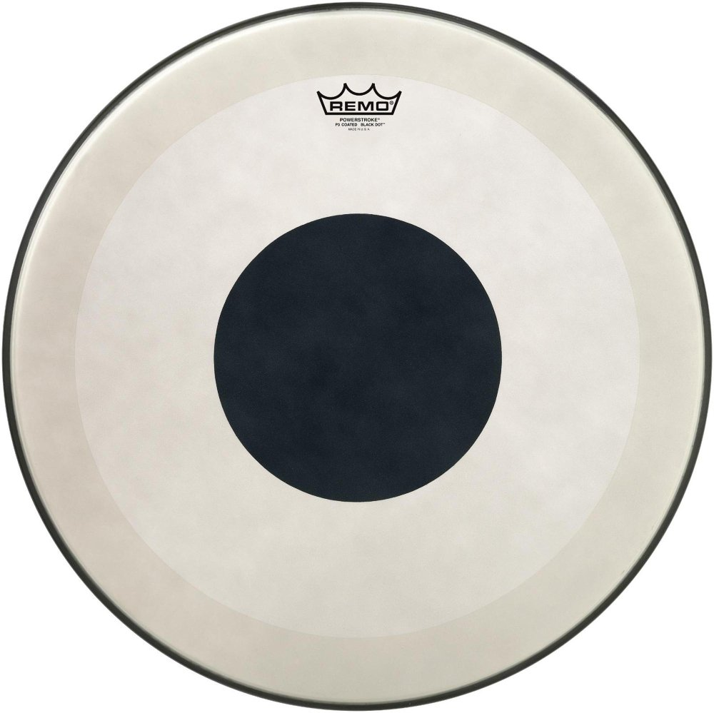 Remo P3112610 26'' BD Powerstroke 3 Coated Bass Drum Batter Head with Bottom Black Dot