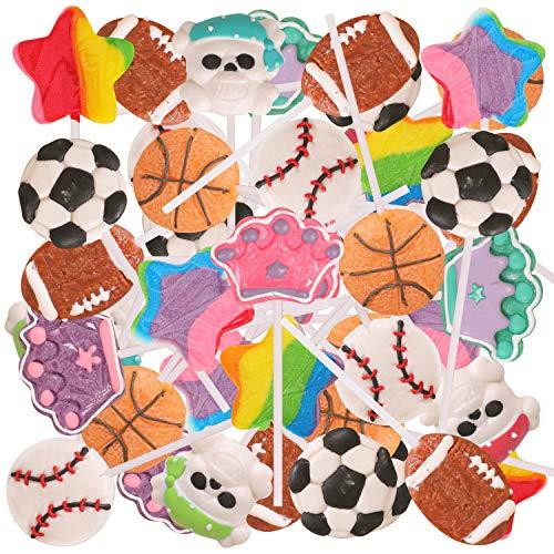 Narwhal Novelties Hard Candy Lollipop Variety Pack, Candy Favors; 48 Lollipops]()