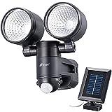 OHM LEDセンサーライト ソーラー式 LS-S225B-K