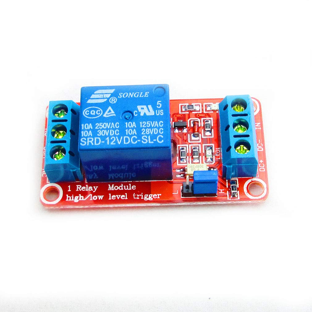 Hiletgo 12v 1 Channel Relay Module With Opto Isolation This Is How You Control A Gives Proper Support High Or Low Level Trigger Office Products