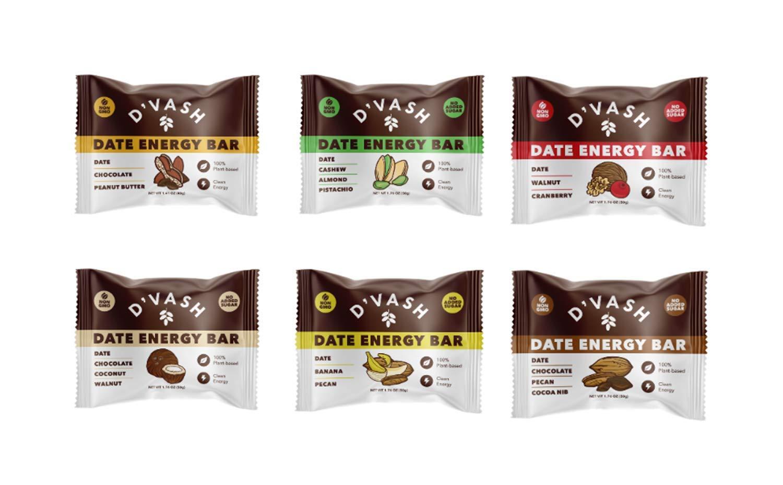 Bar Variety Pack - 6 Pack, Peanut Butter, Walnut Cranberry, Banana Pecan, Cashew Almond Pistachio, Cashew Almond Pistachio, and Chocolate Pecan Cocoa Brownie Nib,100% Organic Dates, No Added Sugar, Paleo, Non-GMO, Kosher