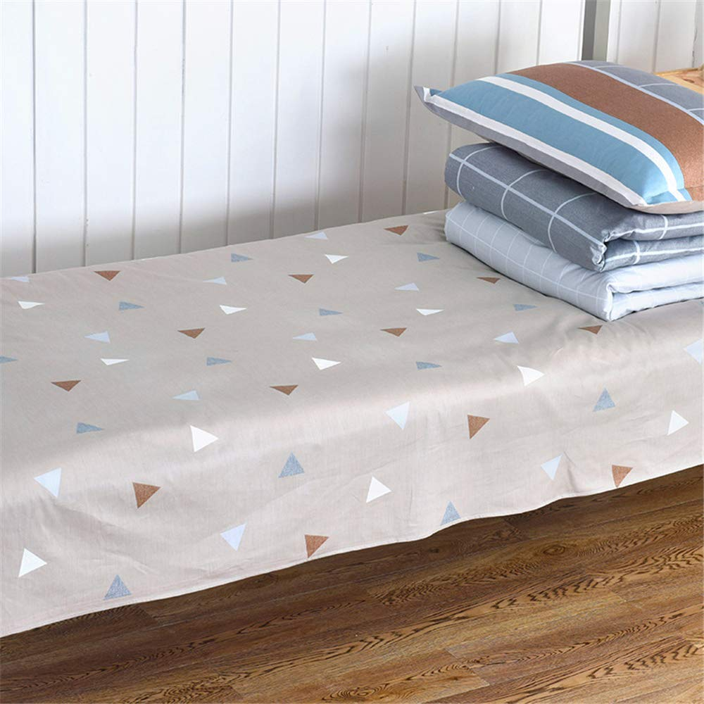 Cotton Sheets, Single Double, Simple Style, Active Printing, Skin-Friendly, Non-irritating, Healthy, Environmentally Friendly, Easy to Clean, Anti-Wrinkle, high Color fastness Long Night B 180220cm by iangbaoyo