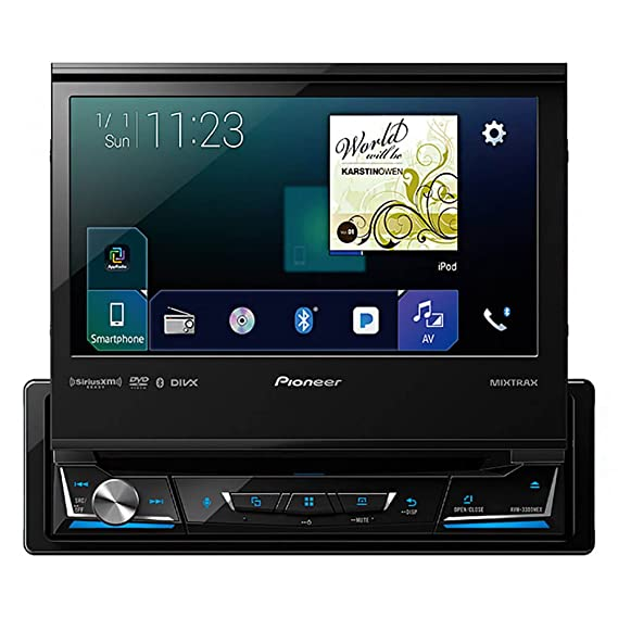 Pioneer Avh 3300nex 7 Flip Out Dvd Receiver With Carplay Android Auto And Bluetooth
