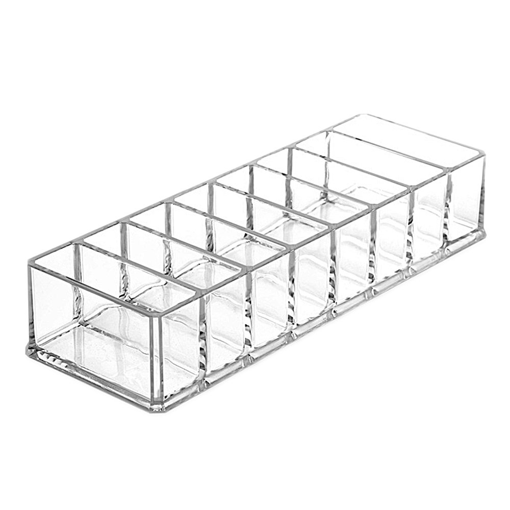 Amazon.com: Acrylic Clear Makeup Organizer Holder Storage Case Boxes Container for Cosmetic Eyeshadow Face Powders: Kitchen & Dining