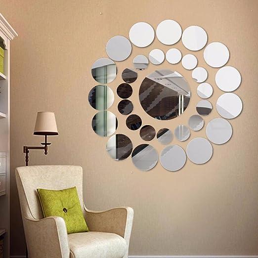 3D Mirror Sun Wall Sticker Art Removable Acrylic Mural Decal Home Room DIY Decor