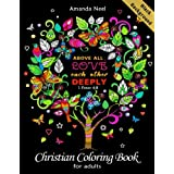 Christian Coloring Book for Adults Black Background