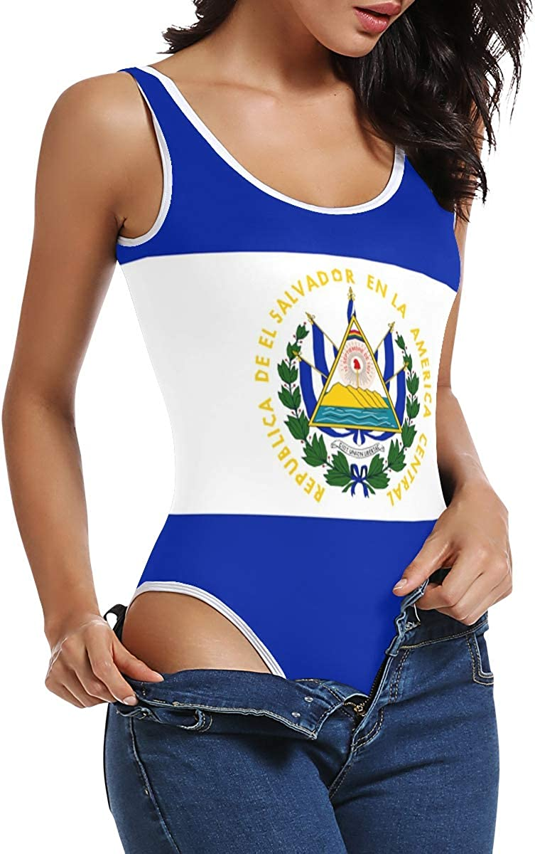 super3Dprinted El Salvador Flag Womens Bodysuit Jumpsuit
