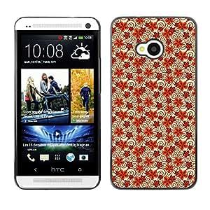 ZECASE Funda Carcasa Tapa Case Cover Para HTC One M7 No.0004894