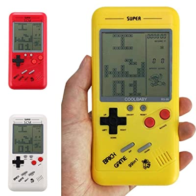 New Children Tetris Handheld Game Console Portable Game Handheld Toys Yellow: Clothing