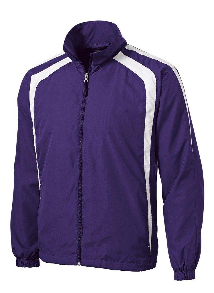 Joe's USA tm Tall Colorblock Full Zip Raglan Jacket-Purple/White-4XLT