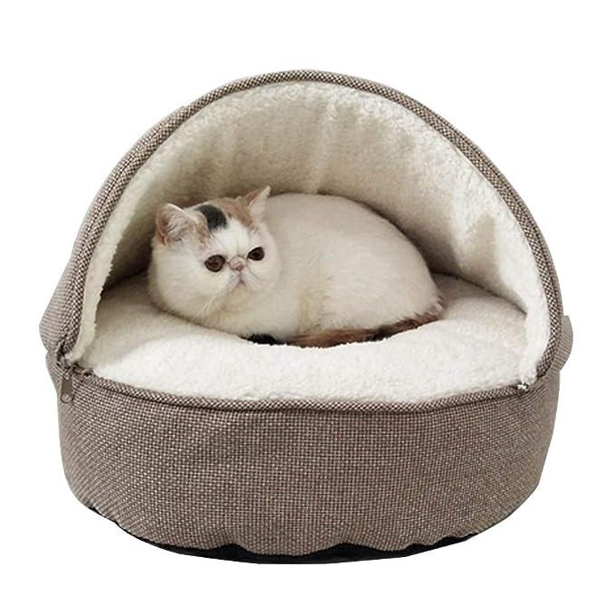 Amazon.com: MUJING Cama de gato gruesa cueva de dormir ...