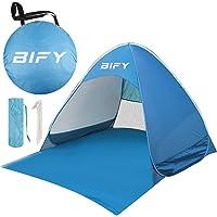 BIFY Pop up Strandmuschel/Strandzelt Beach Zelt Tragbar Wurfzelt,UV Schutz 50+ für1-3person mit Haus Verschiedene Arten Aktivitäten am Strand