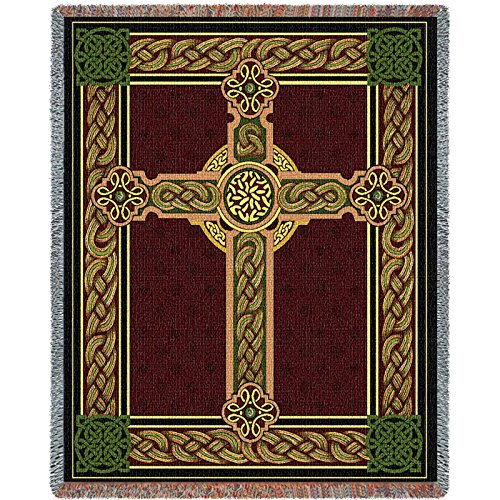 Pure Country Inc. Celtic Tapestry Blanket (Celtic Cross Throw)
