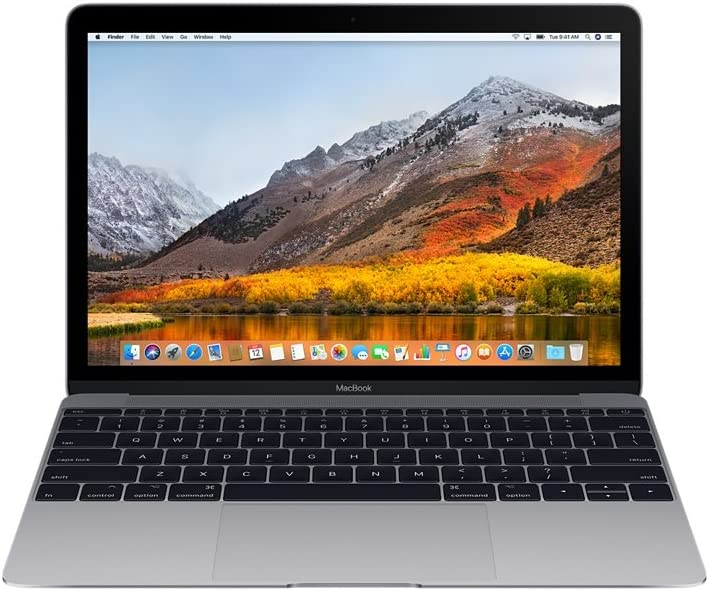 Apple MacBook 12in Laptop w/ Retina Display 1.2GHz Core M, (MJY42LL/A), 8GB Memory, 512GB Solid State Drive, Space Gray (Space Gray)(Renewed)