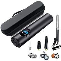 InLoveArts Mini Bomba de Inflado Eléctrica con CE, LCD Compresor de Aire Portátil y Linterna LED, USB 6000MA, para Neumáticos de Bicicleta, Pelotas y Neumáticos Inflables para Piscinas y Automóviles