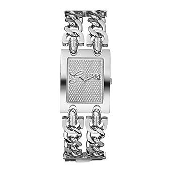 e72f3800d9 Guess - W80048L1 - Montre Femme - Quartz - Analogique - Bracelet Argent