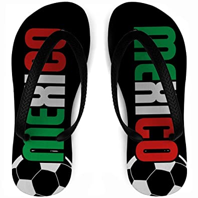 47647d1efab7dd Image Unavailable. Image not available for. Color  ChalkTalkSPORTS Flip  Flops Mexico Soccer