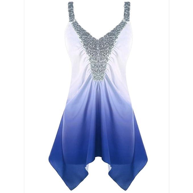 Venta Caliente Camisa Larga de Moda para Mujer Casual Más Tamaño Lentejuelas con Cuello En V
