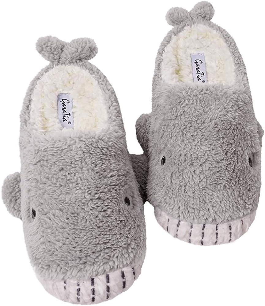 GaraTia Women Animal House Slippers Shark Cozy Fleece Memory Foam Cute Soft Plush Indoor Slipper