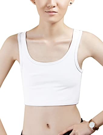Les femmes Tomboy Boucle poitrine sein Binder Slim soutien-gorge de Sport Tank Top Corset Gilet