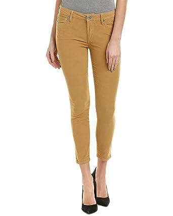 3782d1eddf91 Amazon.com  True Religion Women s Halle Super Skinny Crop Capri Corduroy  Pants In Carmel  Clothing
