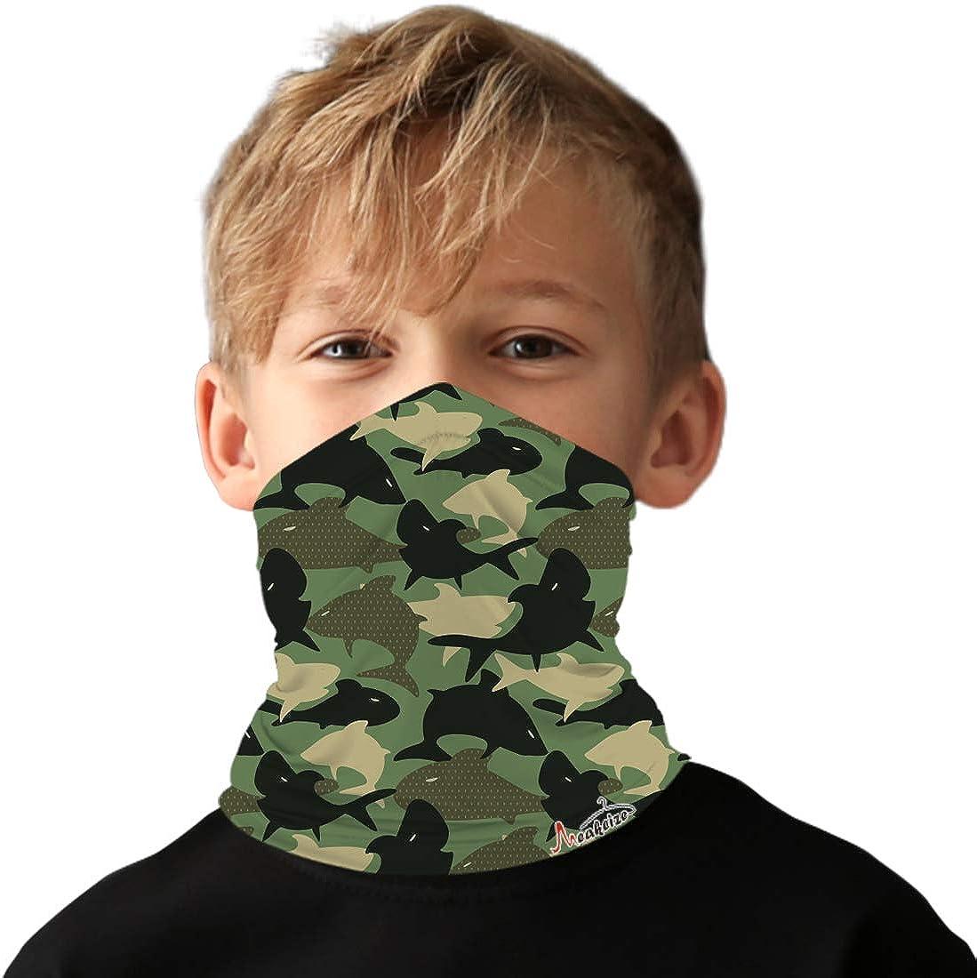 meakeize Kids Full-Coverage Tube Face Mask Bandanas UV Protection Neck Gaiter Headband, UPF 50+ Fabric