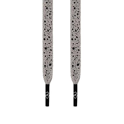 Amazon.com  Laced Up Laces Flat Shoelaces 45 inch Black Cement  Home    Kitchen c842e99a1