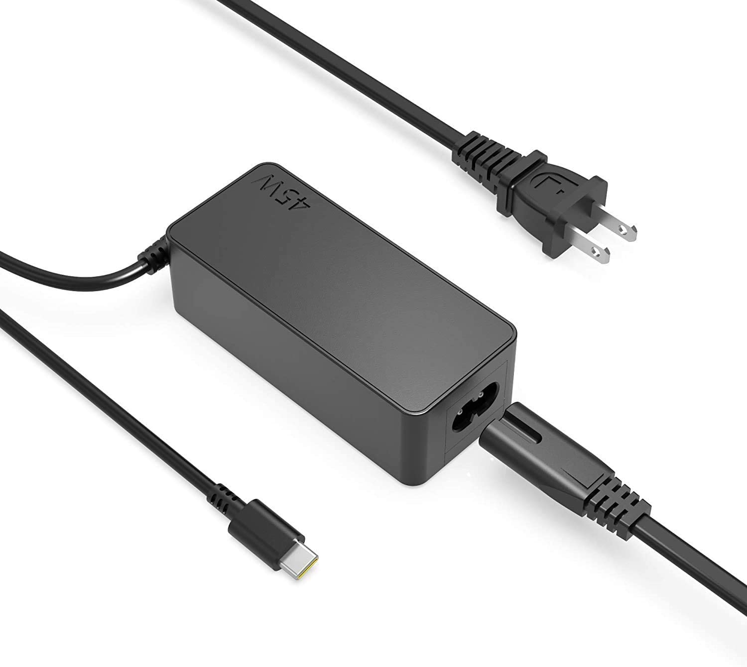 45W AC Charger Fit for Lenovo Ideapad Yoga 5G 6 5G-14Q8CX05 6-13ARE05 6-13ALC6, ThinkPad P15s P14s C13 Yoga Gen 1 2, X12 Detachable Gen 1 Type C USB Laptop Power Supply Adapter Cord