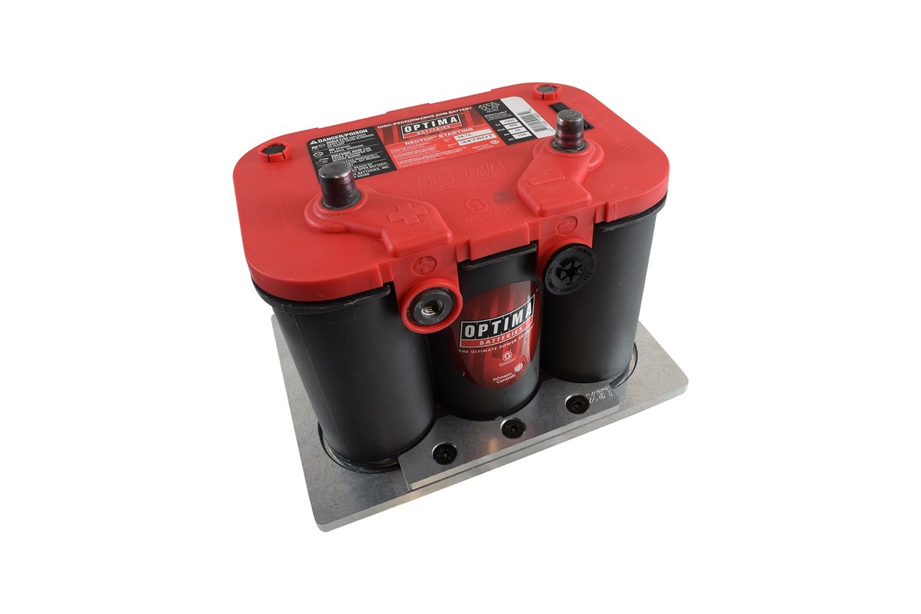 Optima Battery Tray Billet Aluminum Optima 34/78 Battery Bracket Relocation, BAT10SS