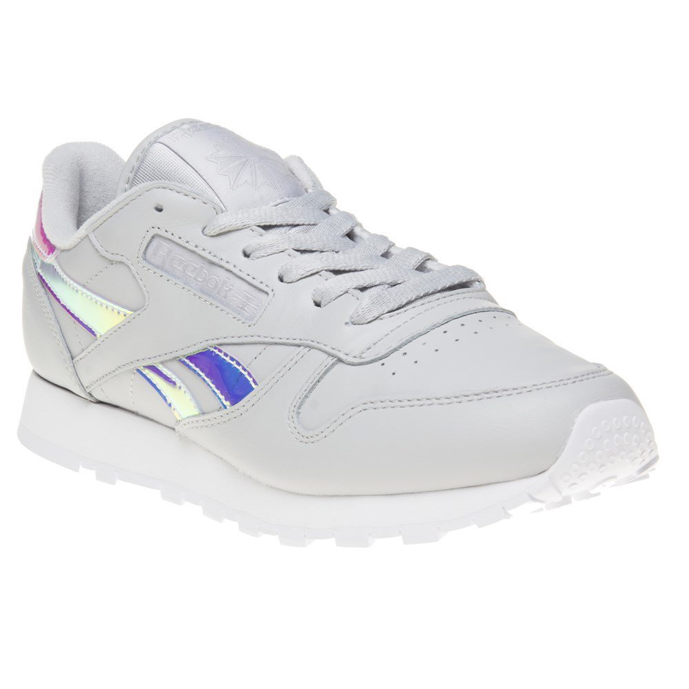 official store super specials arriving Reebok Classic Leather Iridescent Trainers Grey 7 UK: Amazon ...