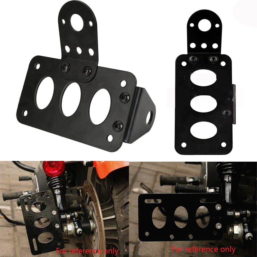 sans feu arri/ère ECLEAR Moto License Plate Accessoire Lat/érale Plaque Dimmatriculation Broche pour Harley Support de pour plaque dimmatriculation