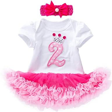 2pcs Girl Kids Baby Headband+Dress Party Outfits Set Clothes Summer Dresses Gift