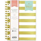 "Day Designer for Blue Sky 2019 Weekly & Monthly Planner and Notebook, Flexible Frosted Cover, Twin-Wire Binding, 5.8"" x 8.6"", Gold Stripe"