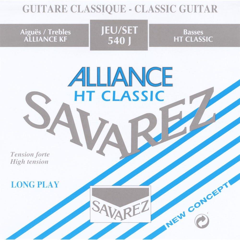 Savarez 655927 - Cuerdas para Guitarra Clásica Alliance HT Classic 540J Juego Tensión Alta, Azul