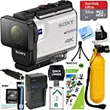 Sony FDR-X3000 4K Action Camera with Balanced Optical SteadyShot + Outdoor Action Kit & Accessory Bundle