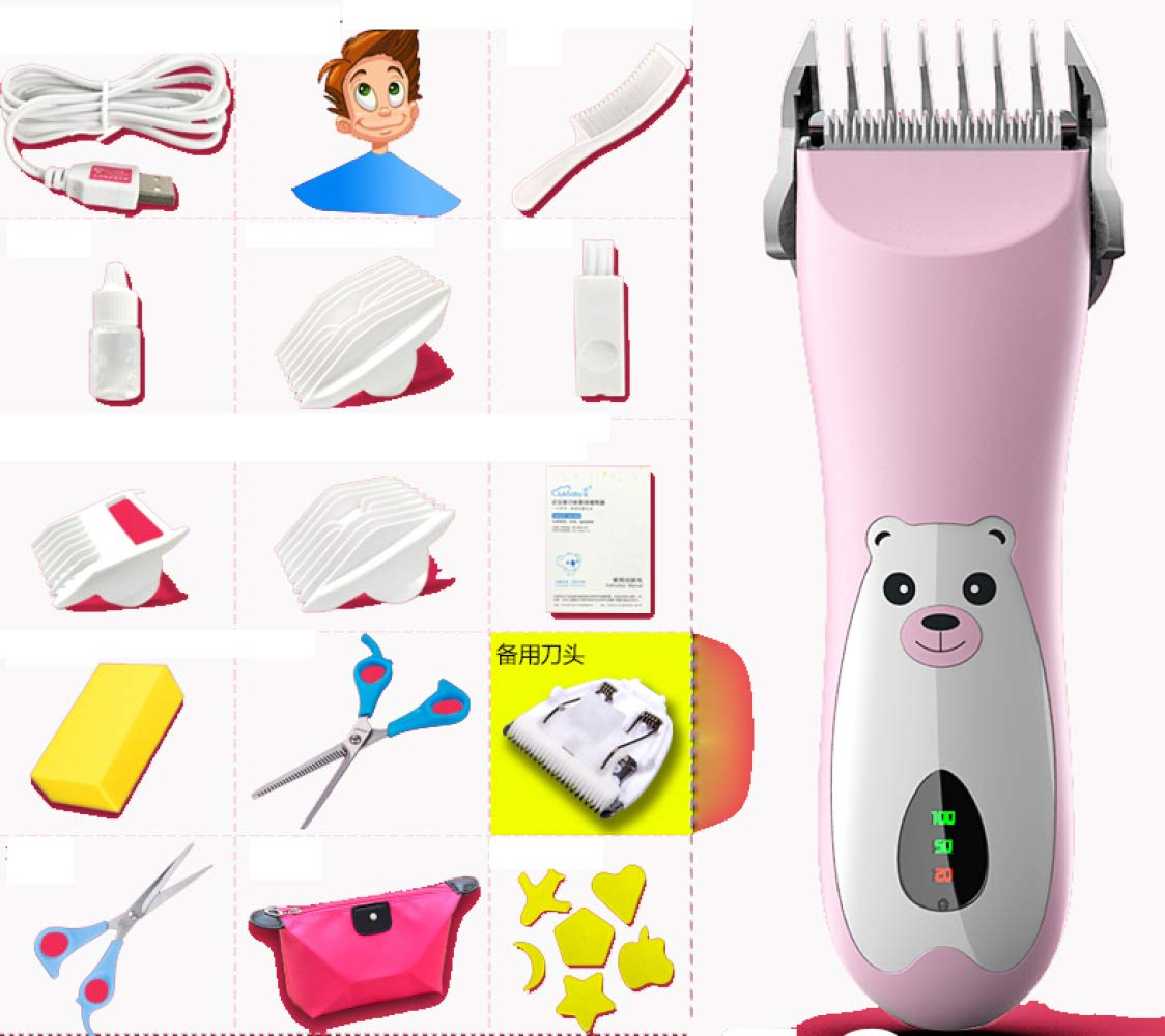 CTO Baby Hair Clipper, Ultra-Quiet, Hair Clipper, USB Charging, Shaving Baby Child Shaving Knife, Child Baby Home,B,Hair Care by CTO