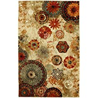 Mohawk Home Strata Caravan Medallion Floral Printed Area Rug and Dual Surface Pad Set, 7'6' x 10', Multicolor
