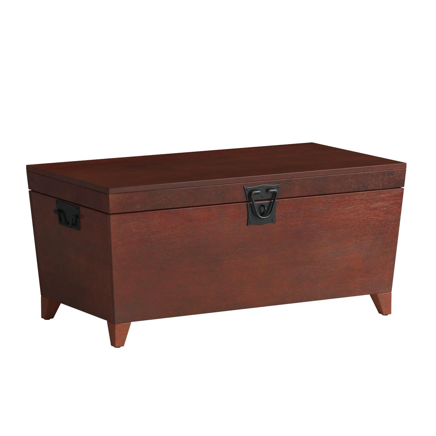 Southern Enterprises Pyramid Storage Trunk Cocktail Table, Espresso Finish by Southern Enterprises