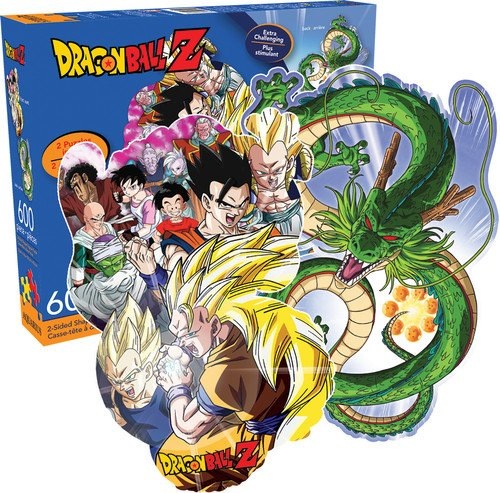 Aquarius Dragonball Z 600 Piece 2 Sided Diecut Jigsaw Puzzle